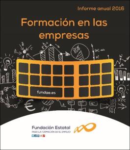Portada del informe Formación en las empresas 2016